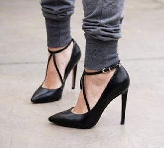 black style strappy heels high heels