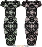 dress,short sleeve,print,print dress,ladies,long pencil skirt,skirt,bodycon,pencil skirt,pink,mint,black,summer,spring,2014,trendy,fashion,little black dress