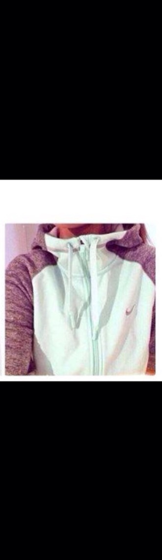sweater grey and mint nike zip up sweater