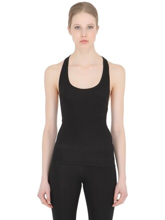tank top top racerback cotton black