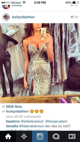 dress bustier dress silver dress