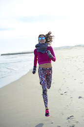 nycpretty,blogger,top,scarf,sportswear,pattern,printed pants,mirrored sunglasses