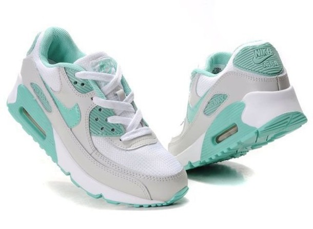 shoes turquoise white nike air max nike nike shoes air max nike air max 90 turquoise