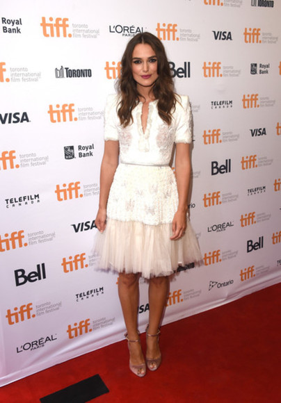 dress keira knightley white dress