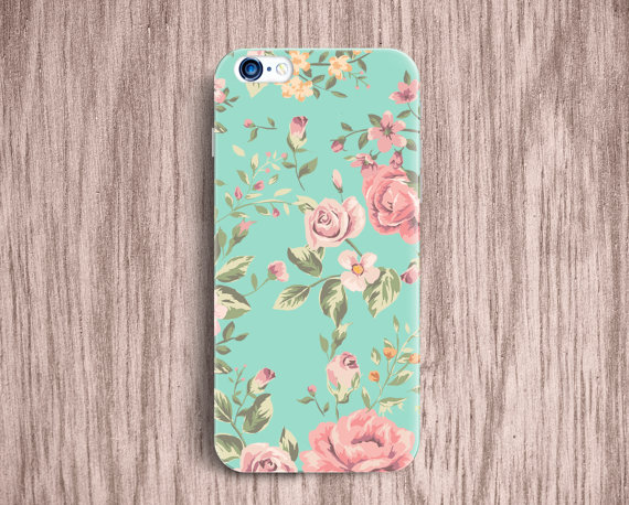 check out 2f5a2 47225 Floral iPhone 6 Case mint iPhone 6 plus Case iPhone 5C 5 5s 4 5 Case  Samsung Galaxy S5 S4 mini Galaxy Note 4 Note 3 Trend Floral Case [19]