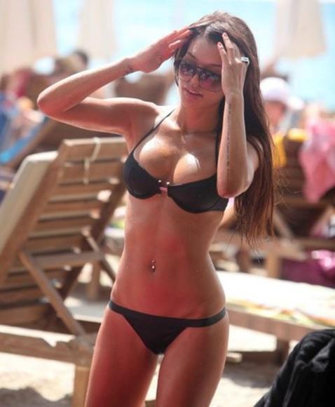 black bikini swimwear black black swimwear swimwear, swimsuit, bikini, swim, underwear, cute, pretty, pink, coral swim wear top two-piece