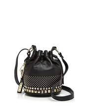 bag,black,black bag,studs,studded,studded bag,bucket bag,studded bucket bag