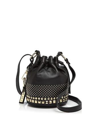 bag black black bag studs studded studded bag bucket bag studded bucket bag