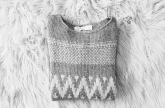 girly fall sweater grey grey sweater christmas gift cute fluffy warm pattern pullover sweet