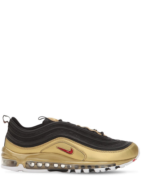 sneakers gold black shoes