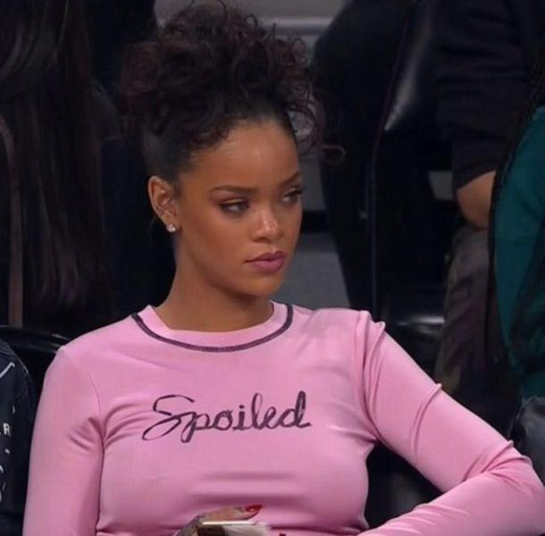 blouse pink rihanna shirt spoiled tight tight shirt black long sleeves