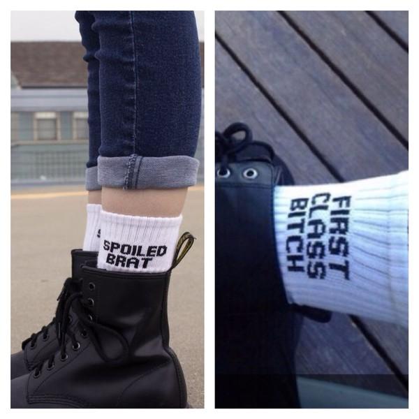 socks quote on it