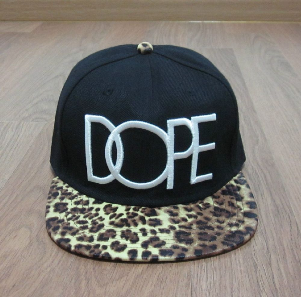 New Dope Embroidery Leopard Animal Pattern Brim Strapback Hat Men's Ball Cap | eBay