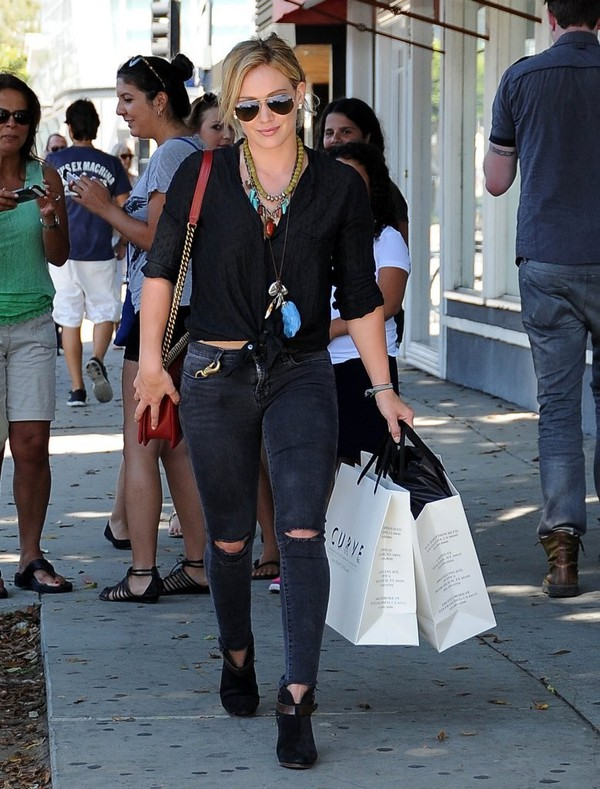 jeans hilary duff boots shoes