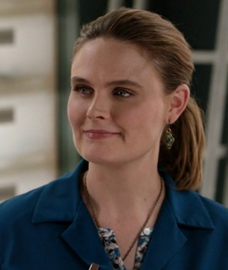 jewels turquoise bones tv show emily deschanel earings dr. temperance brennan
