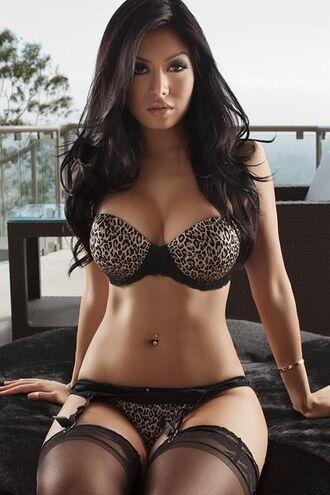 underwear lingerie set leopard print garter belt