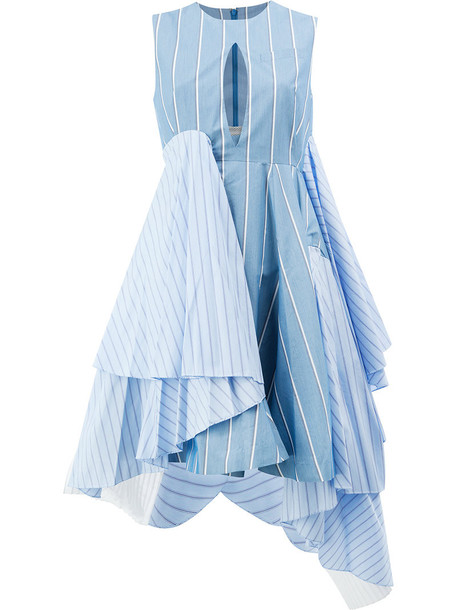 Facetasm dress women cotton blue