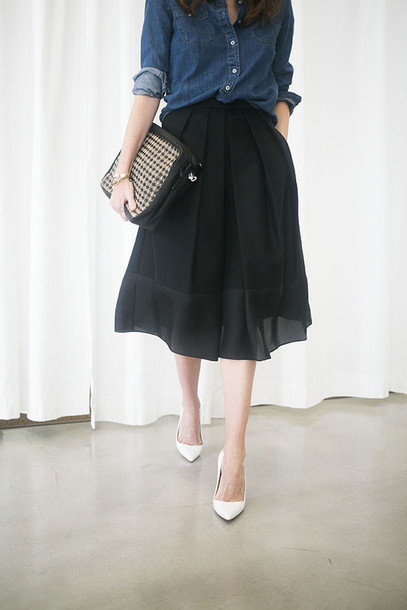 could i have that blogger skirt top bag shoes jewels