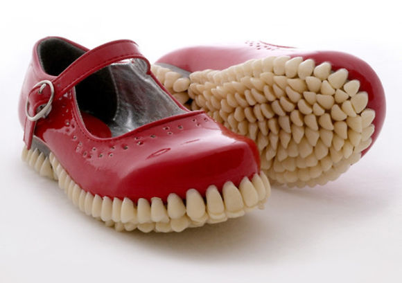 shoes red red shoes cute creepy cool teeth tooth disturbing