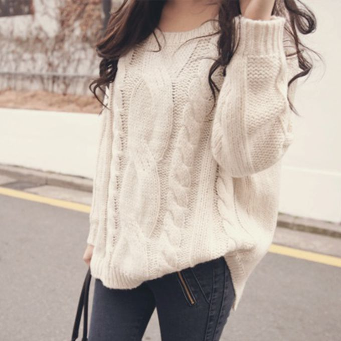 sweater cute knitted sweater oversized sweater clothes big off white tumblr fall outfits white. Black Bedroom Furniture Sets. Home Design Ideas