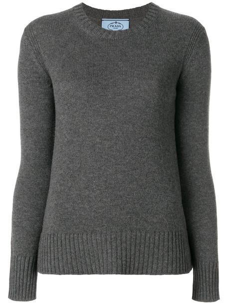 Prada jumper women grey sweater