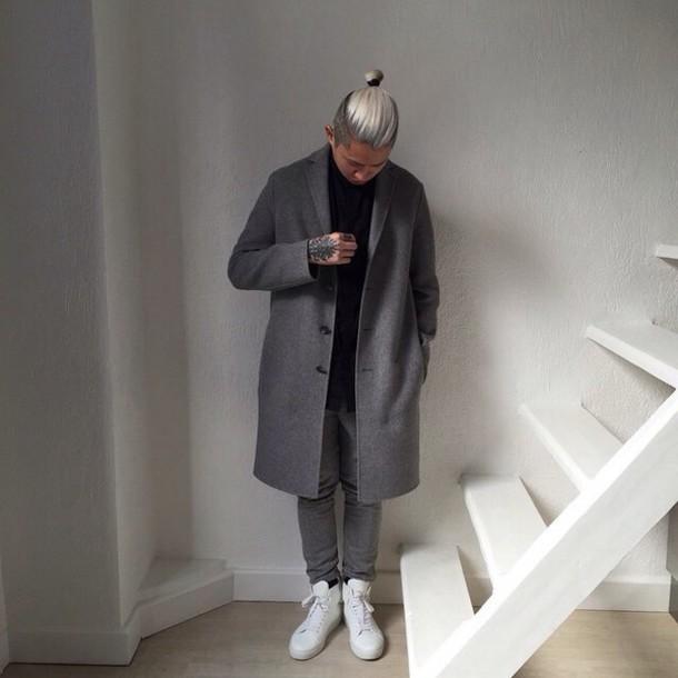 coat grey coat buff long coat fashion love this look love this coat menswear