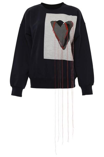 MAISON MARGIELA sweatshirt navy sweater