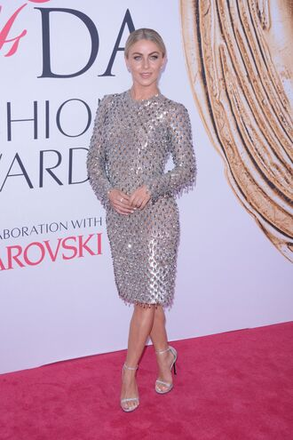 dress silver silver dress sandals julianne hough midi dress metallic long sleeve dress sandal heels shoes silver sandals silver high heels sandals