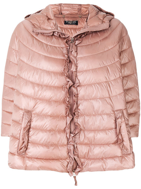Twin-Set jacket puffer jacket women fit nude