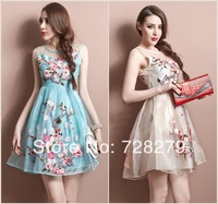 Aliexpress.com : Buy 2014 spring and summer women's fashion royal vintage print ruffle slim one piece dress from Reliable dress jade suppliers on Show Beauty.