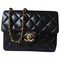 2.55 leather bag chanel black