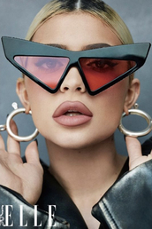 sunglasses,kylie jenner,kardashians,celebrity,editorial,oversized