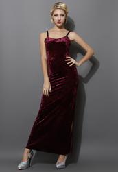 dress,red,velvet,maxi,slip dress,red slip dress