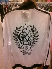 jacket,ecko,unltd,vandals,original,track jacket,1972,mark ecko,white and black jacket,white jacket,sports jacket,ecko 72