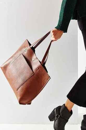 bag leather tote bag