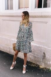 shoes,white shoes,dress,floral,spring dress,bag,espadrilles,sandals,floral dress,spring outfits