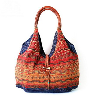 bag tote bag shoulder bag pattern multicolor summer bag