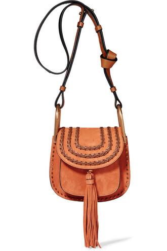 mini bag shoulder bag suede light brown