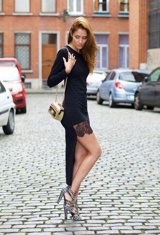 dress gold clutch clutch metallic clutch black dress high low dress lace dress sandals high heel sandals