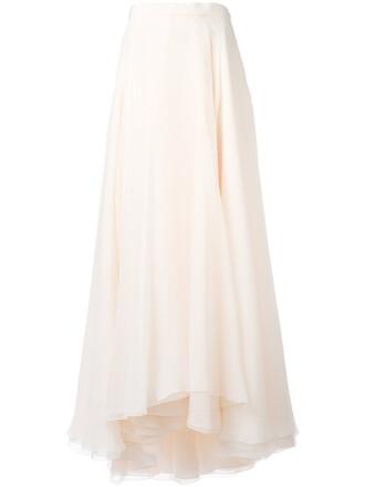 skirt maxi skirt maxi women nude silk