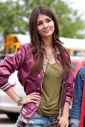 jacket,poppers,purple,marron,burgundy,white stripes.