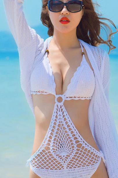 Knitted Sexy Cutout Beach Bikini