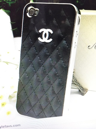 phone cover chanel iphone 6 case iphone black quilted silver