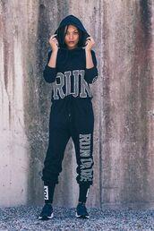 pants,health goth,joggers,black joggers,sports pants,hoodie,black hoodie,sneakers,black sneakers,sportswear,all black everything