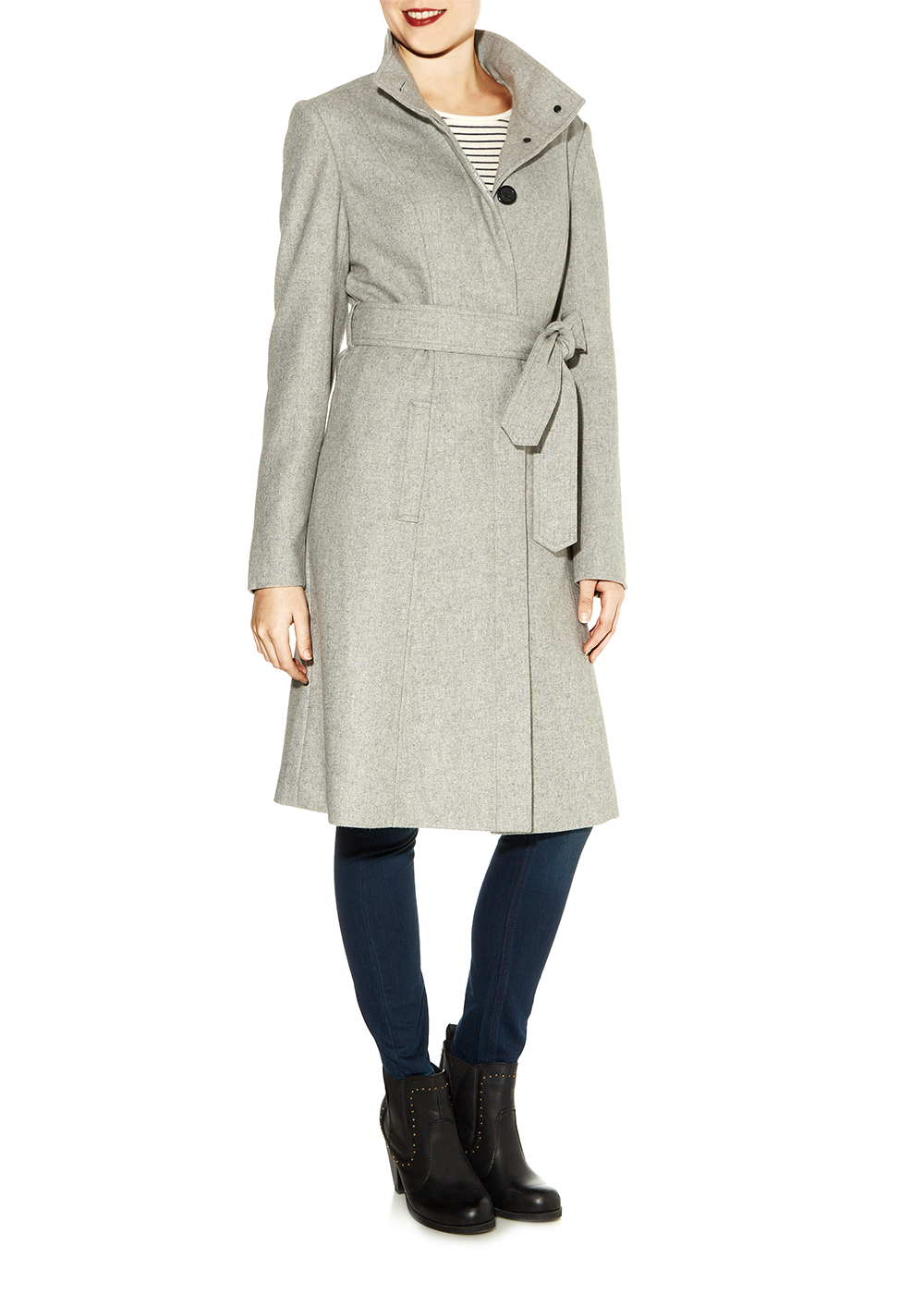 Wool Rich Fit and Flare Coat - Matalan
