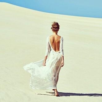 dress white dress summer outfits summer dress loose beautiful dresses long dresses maxis maxi dress open back dress hipster wedding beach wedding
