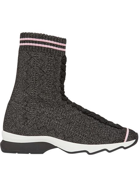 Fendi women spandex black shoes