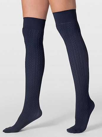 Opaque Over-the-Knee Cable Knit Sock | American Apparel