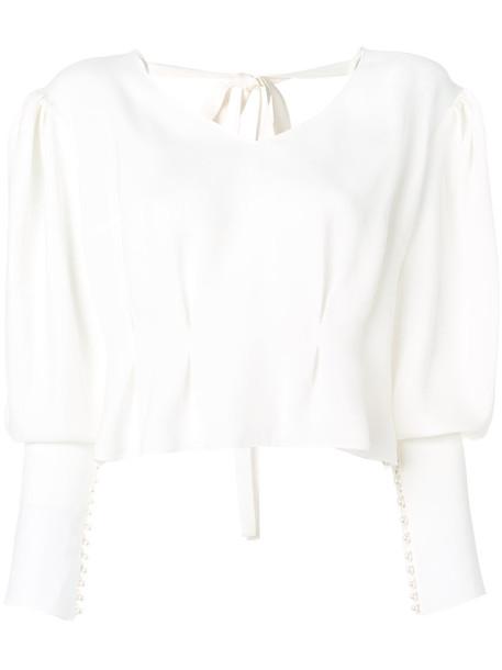 Magda Butrym - Lucena blouse - women - Silk - 40, White, Silk