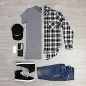 shirt,jeans,t-shirt,cap,snapback,lookoftheday,sneakers,black and white,phoenix,blouse,phoenix clothing,streetwear,streetstyle,checkered